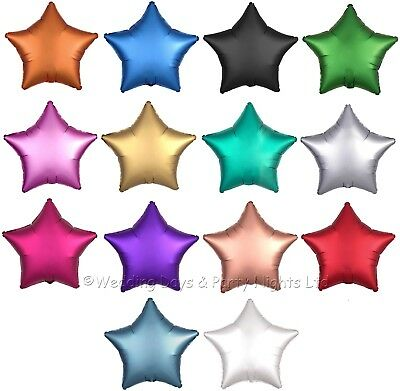 Satin Luxe High Quality 17  Foil Star Shape Helium Balloons Party Decorations • 1.25£