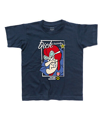 T-Shirt Child Dick Dastardly 2 Muttley, Vulture Squadron - Wacky Races • 15.77£