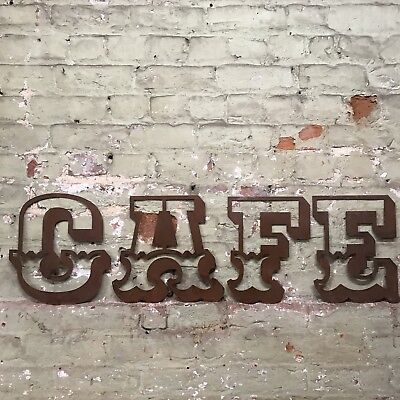 £47.99 • Buy Rusty Cafe Lettering Letters Signage Metal 12  Wall Art Coffee Shop Sign #3