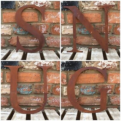 £47.99 • Buy Rusty Rustic SNUG Lettering Letters Signage Metal Home Pub Bar Mancave Sign