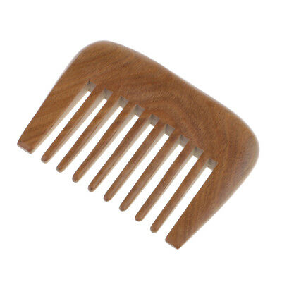 £5.99 • Buy Pro Wooden Comb Afro Hair Pocket Pick Handmade Wide Tooth Sandalwood Comb