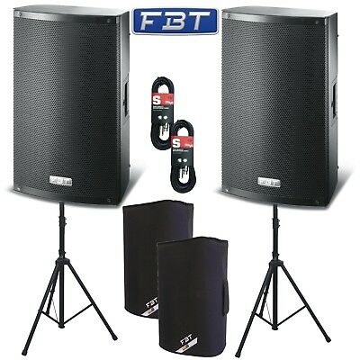 2 X FBT X-Lite 10A Active 2000W 10  Powered Speakers Package DJ Disco PA System • 729£