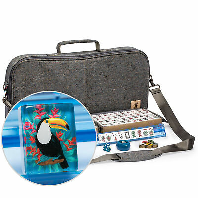 $120.60 • Buy American Mahjong Set - Toucan - With 166 Tiles, Gray Soft Case And Accessories