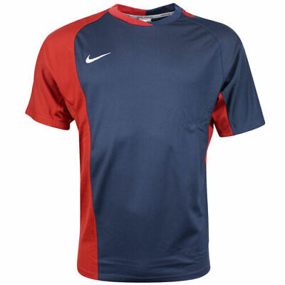 Nike Performance Short Sleeves Dri Fit Mens Rugby Top Navy Red 329302 410 A59E • 7.99£