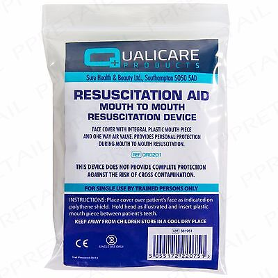 £3.04 • Buy CPR RESUSCITATION FACE MASK SHIELD Mouth To Mouth First Aid Sheet/Cover Refill