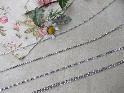 1 Metre Length Of Surgical Steel Jewellery Chain - Design-curb,cross,ball,twist • 2.99£