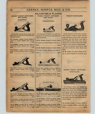 1934 PAPER AD 8 PG Stanley Bailey Planes Block Bench Parts Repair Price Lists • 28.66£