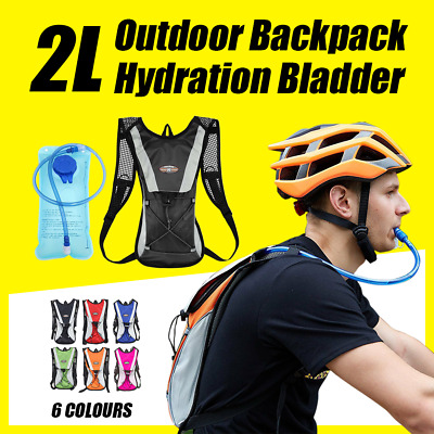 AU18.50 • Buy Hydration Pack + 2L Water Bladder Bag Backpack Cycling Bicycle Hiking Camping