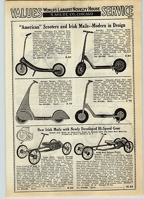 $9.98 • Buy 1939 PAPER AD Skippy Racer Sidewalk Scooter Irish Mail American Scooter