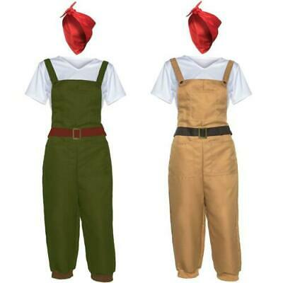 WW2 1940s Land Girl Womens Army World War 2 Fancy Dress Costume Dig For Victory • 12.99£