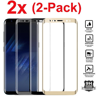 $ CDN4.27 • Buy 2x For Samsung Galaxy S8 + /Note 8 Screen Protector Tempered Glass Curved Glass