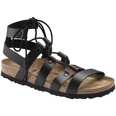 Papillio By Birkenstock Cleo Black Womens Leather Gladiator Strappy Sandals • 89.48£