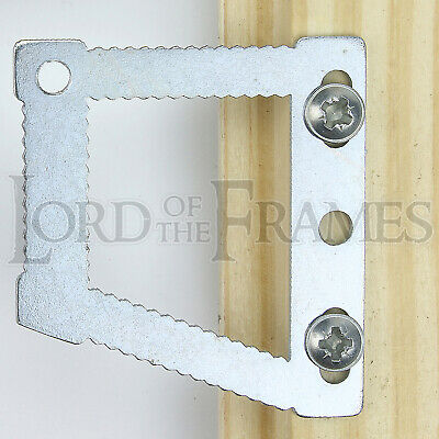 CWH5 Micro Sawtooth Angled Square Picture Frame Canvas Hangers - Optional Screws • 2.25£