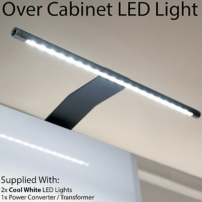2x Over Cabinet LED Light & Driver Kit -COOL WHITE-Kitchen Cupboard Reading Lamp • 36.99£