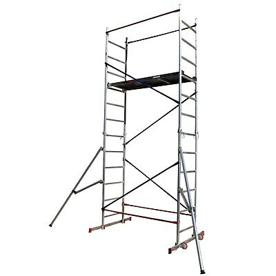 £364.98 • Buy DIY Scaffold Tower - Aluminium 5m Reach Height With 2x Outriggers Safety, Towers