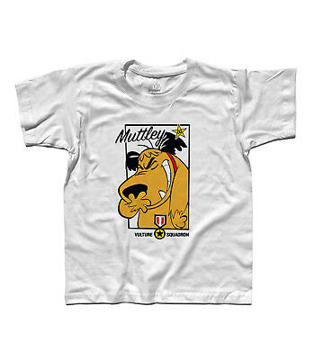 T-Shirt Child Muttley 2 Dick Dastardly Vulture Squadron - Wacky Races • 15.77£