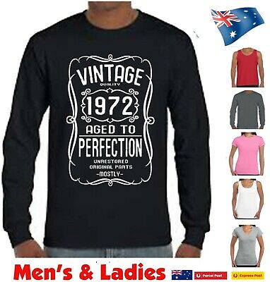 AU22.95 • Buy 50th Birthday 50 Years Old Gift Present Funny T Shirt Vintage 1971 Fifty Tee Fun