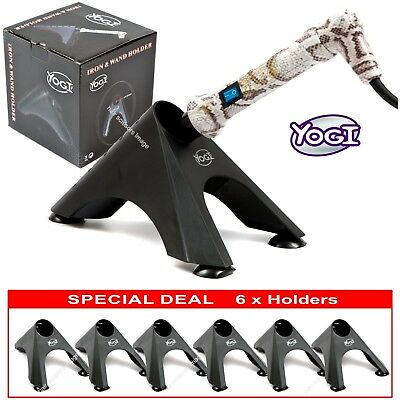 6 X YOGI Holders For Hair Straightener Tong Wand GHD Etc YOGI SPECIAL PACK Of 6 • 12£