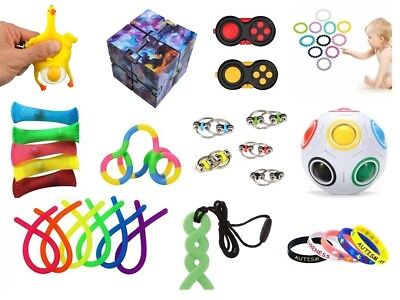 Autism ADHD Stress FIDGET TOYS Stress Relief Hand Spinners Wristband Chew UK • 2.75£