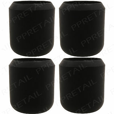 £3.20 • Buy 4 X THICK BLACK RUBBER WALKING STICK CAPS 1  HIGH QUALITY Large Grip Ends 25mm