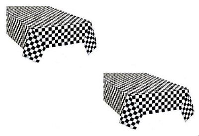$7.50 • Buy 2pk Black And White Checkered Plastic Racing Table Cover Nascar CARS Theme