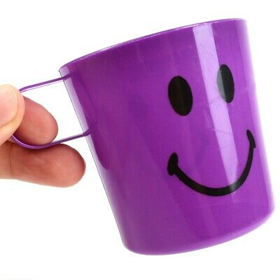 12x KIDS PARTY CUPS Childrens Smiley Face Tumbler Mugs Handle Picnic Garden • 6.99£
