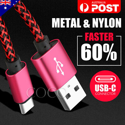 AU6.99 • Buy Fast Charging USB Type C USB-C Cable Samsung S20 Ultra S10 S9 S8 Plus Note 10 5G