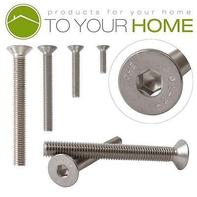 £1.46 • Buy A2 Stainless Steel Countersunk Hexagon Socket Bolts Screws M3 DIN7991