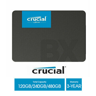 AU66.85 • Buy New SSD 120GB 240GB 480GB Crucial BX500 Solid State Drive 2.5  SATA III 540MB/s