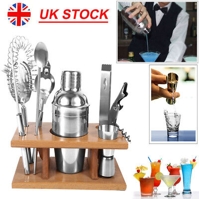 8Pcs Stainless Steel Cocktail Shaker Mixer Bar Tool Set Bartender Maker Kit • 12.99£