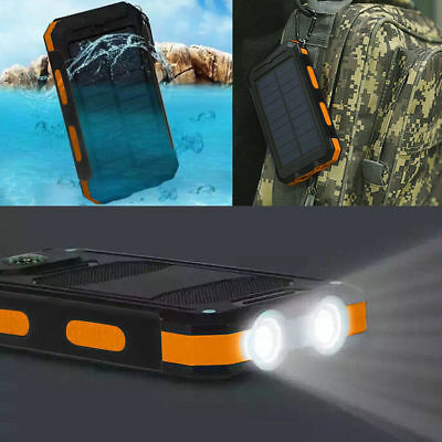 AU22.19 • Buy Waterproof 500000mAh Dual USB Portable Solar Charger Solar Power Bank For Phone