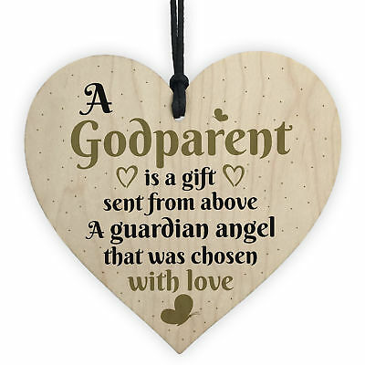 £3.99 • Buy Handmade Godparent Asking Gift For Christening Special Thank You Friendship Sign
