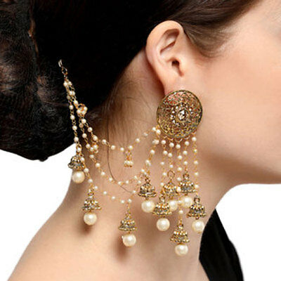 AU25.84 • Buy Bollywood Indian Traditional BAHUBALI Jhumka Jumki Dangle Gold Plt Earring