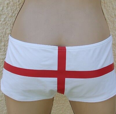 Chainstore England White Red Bikini Shorts  Size 18 New Defect • 5.99£