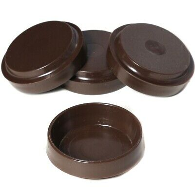 4 X BROWN CHAIR/SOFA CASTOR CUPS Furniture/Carpet/Floor Protectors Caster Feet • 2.75£