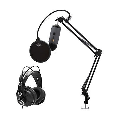 Blue Microphones Yeti Slate USB Mic With Knox Boom Arm, Headphones And Filter • 121.59£