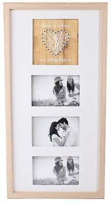 £16.99 • Buy Triple Photo Holder String Heart Design Home Is Where Our Story Begins