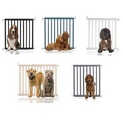 Safetots Premium Wooden Pet Gate Dog And Puppy Animal Barrier 63.5cm-105.5cm • 37.90£