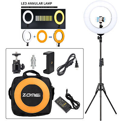 AU74.99 • Buy ZOMEI 14  LED Ring Light With Stand Dimmable Makeup Light Photography Video Kit