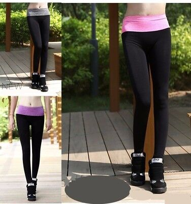 Ladies Sports Pants Yoga Active Apparel Legging Running Gym Fitness Trousers • 6.99£