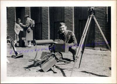 $9.99 • Buy WWII US Army Soldier With Browning M1917 .30 Cal Water-Cooled Machine Gun Photo