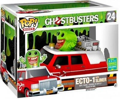 Ghostbusters Funko POP! Movies ECTO-1 With Slimer Exclusive Vinyl Figure Set • 84.29£
