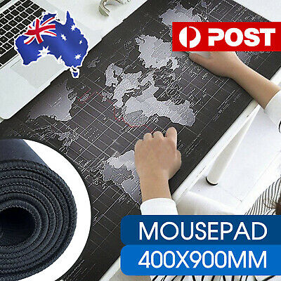 AU14.99 • Buy 40x90cm World Map Mousepad Mouse Pad Mat Gaming Laptop Computer LARGE