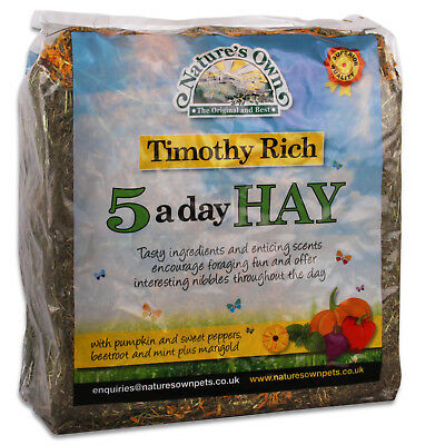 £8.49 • Buy Nature's Own 5 A Day Natural Timothy Hay Small Animal Pet Foraging Feed Bedding