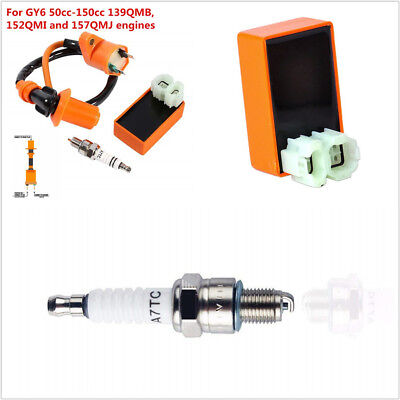 $22.22 • Buy Set Racing Ignition Coil Spark Plug CDI For 4-Stroke Engine Scooter ATV 50-150cc