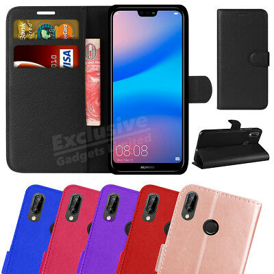 Case For Huawei P20 Lite Phone Luxury Leather Magnetic Flip Wallet Stand Cover • 2.80£