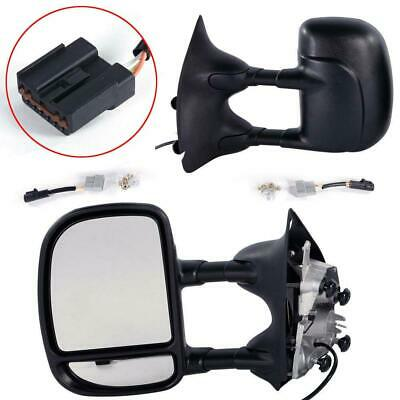 $117.78 • Buy Pair For 1999-07 Ford F250 Super Duty Power Towing Telescoping Duty Side Mirrors