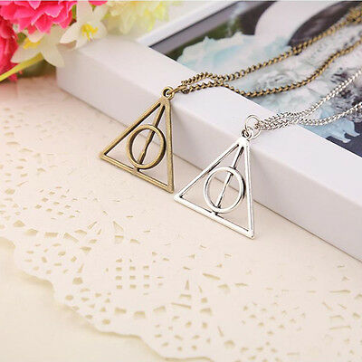 $0.70 • Buy 1PC Harry Potter -Deathly Hallows Metal Silver Necklace Pendant For Women Men