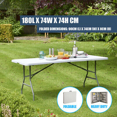 AU65 • Buy Foldable 6Ft 1.8 Meters Folding  Camping Table For Picnic Bbq Party