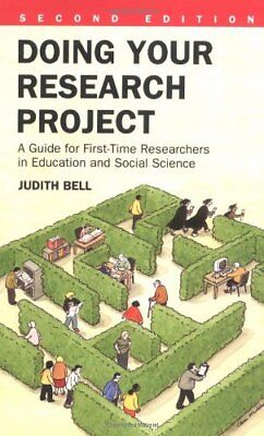 £2.36 • Buy Doing Your Research Project: A Guide For First-time Researchers In Education .